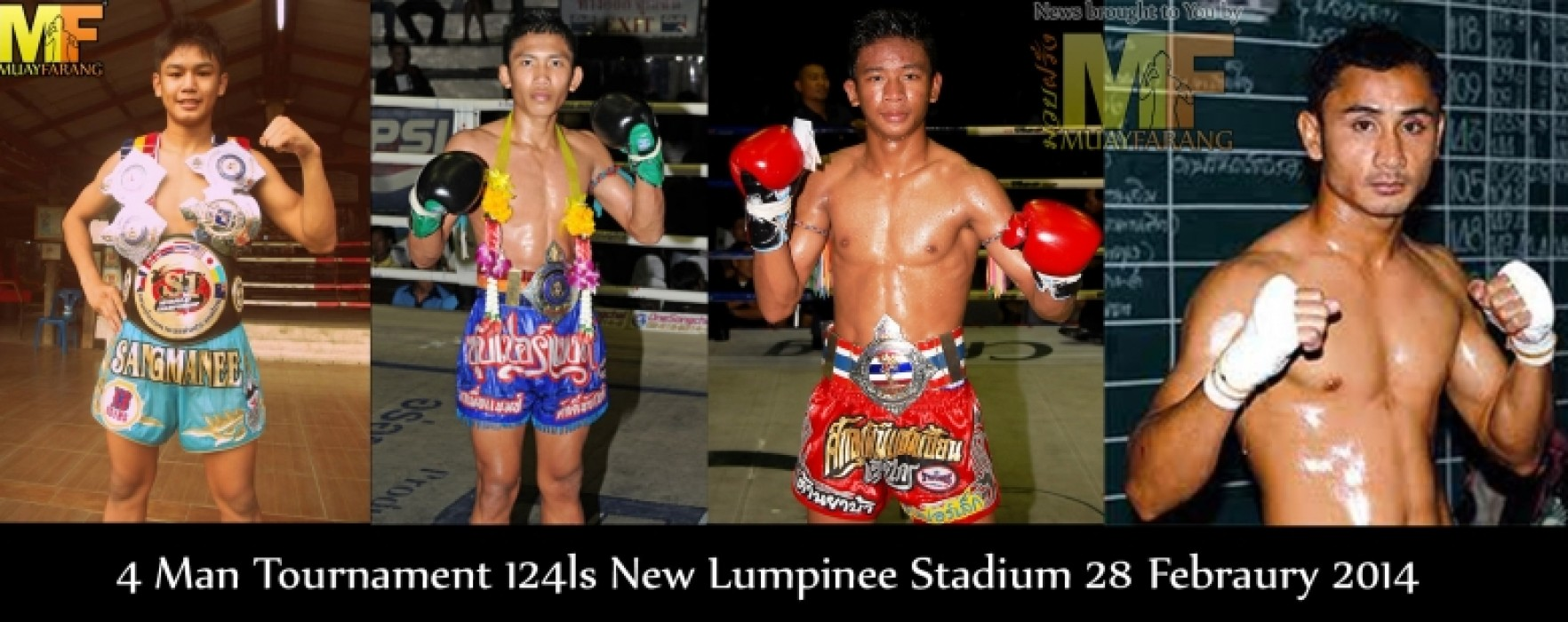 New Lumpinee Stadium grand opening with a 4 man Torunament and 300.000Baht prize