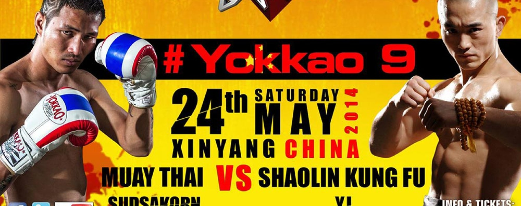 Muay Thai vs Shaolin Kung Fu – Sudsakorn vs Yi Long at #Yokkao 9