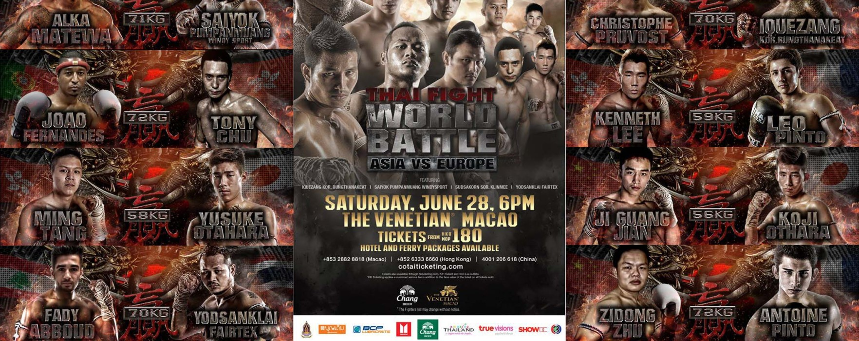 Card: Thai Fight Macao (China) – 28th June 2014