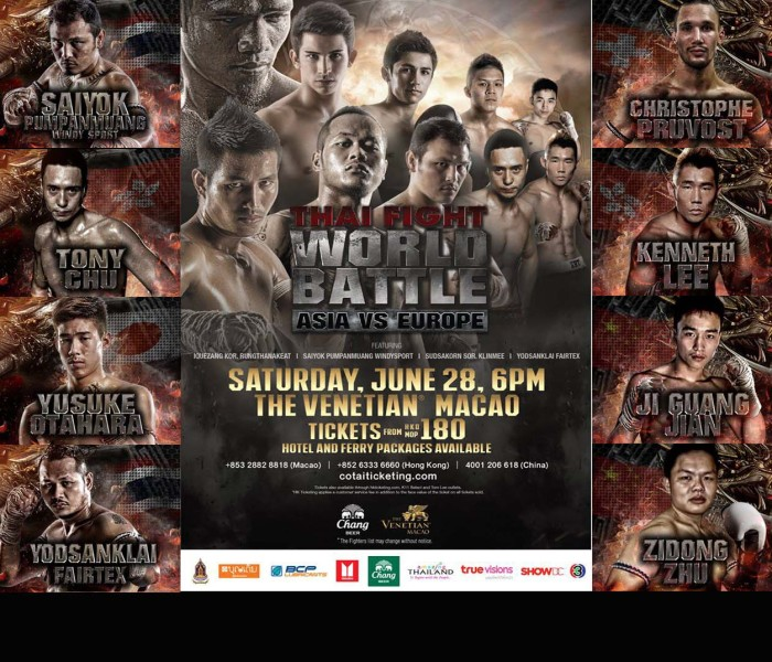 Card: Thai Fight Macao (China) – 28 Giugno 2014