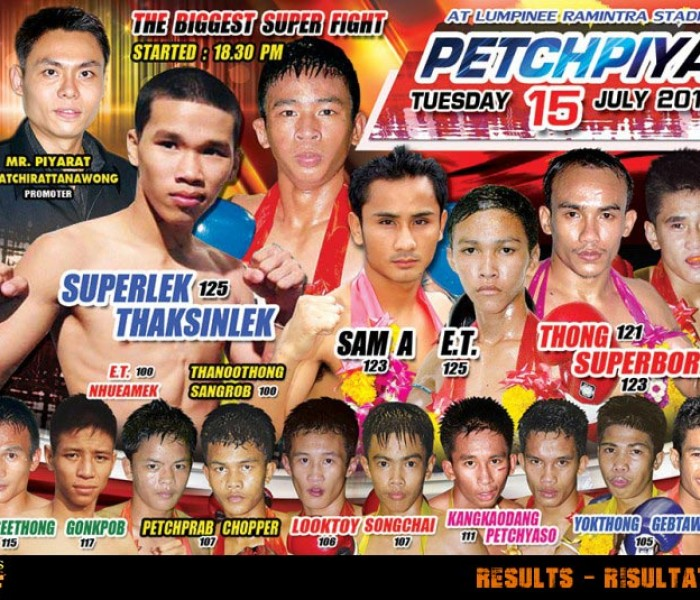 Live Results: Lumpinee Superfights 15th July 2014
