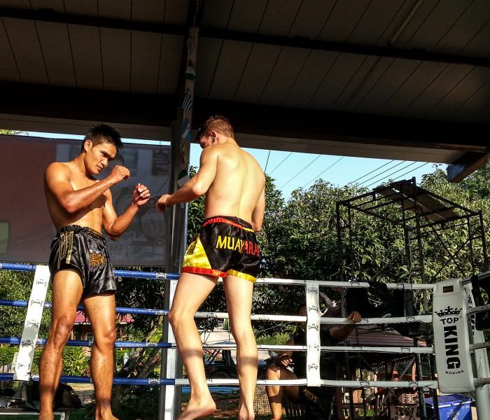 Muay Farang visit Kem Muay Thai GYM at Khao Yai Thiang