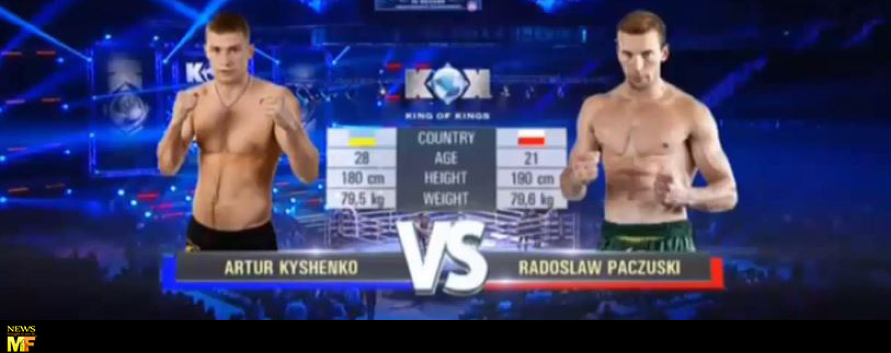 Video: Artur Kyshenko vs Radoslaw Paczuski – KOK – Gdansk, Poland – 17/10/2014
