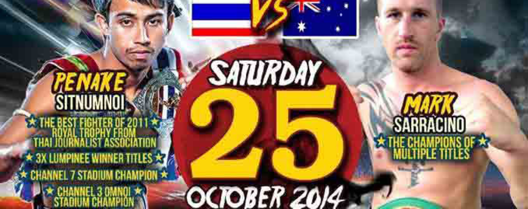 Flash News: Penake Sitnumnoi vs Mark Sarracino – Patong Boxing Stadium, Phuket – 25/10/2014
