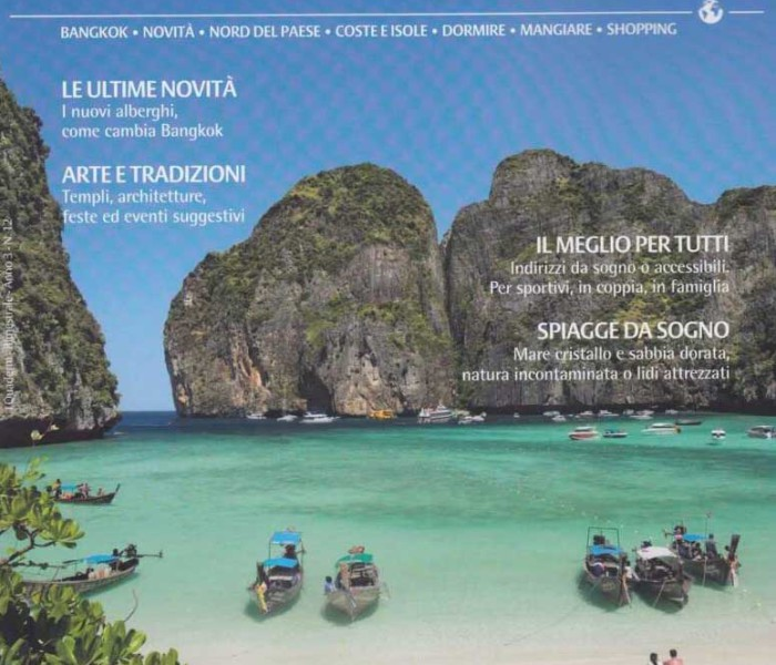 "The 7 Muay Thai Gym & Beach Resort on the Italian Magazine: ""Diari di Viaggio: Thailandia"""