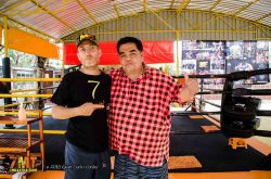 muay farang manager roberto gallo cassarino and khun tuk promoter