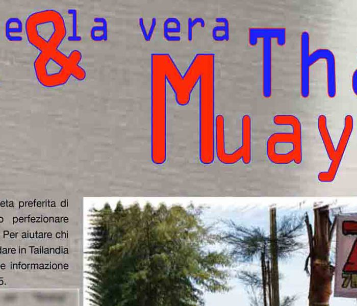 "The ""7 Muay Thai Gym"" on the Italian magazine Samurai"