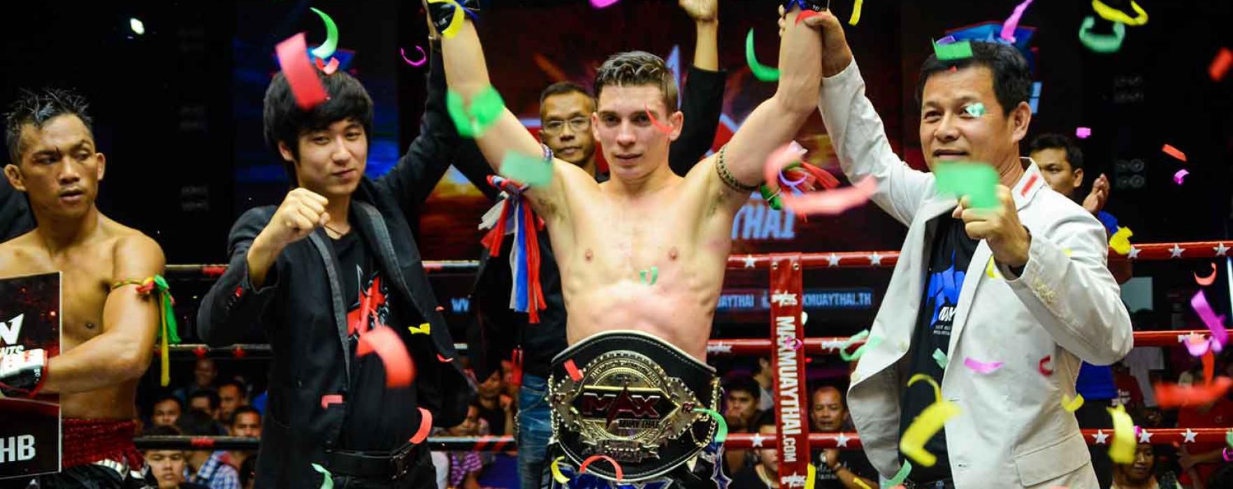 Mathias Muay Farang vince la cintura del del MAX Muay Thai -62kg