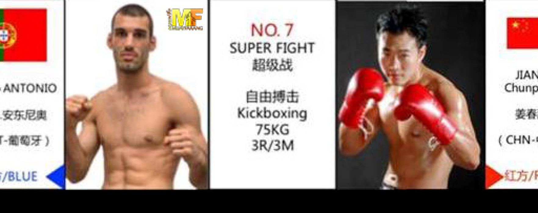 Flash News: Diogo Calado vs Jiang Chunpeng – Kunlun Fight, China – 12 Aprile 2015