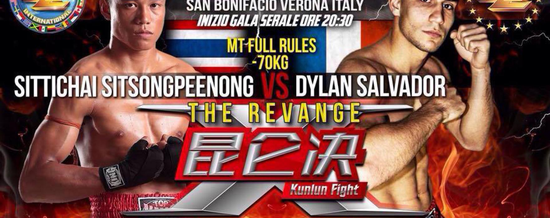 Risultati e video: KunLun Fight 23 – Dylan Salvador batte Sitthichai
