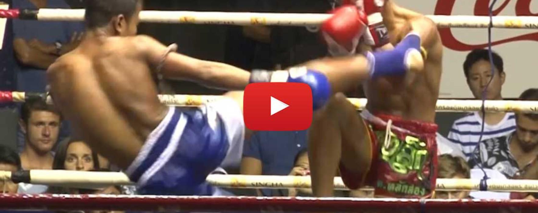 Video: Gingsanglek Thor. Laksong vs Denkriankrai Kiatphontip – Onesongchai promotion – Rajadamnern Stadium – 24/06/2015