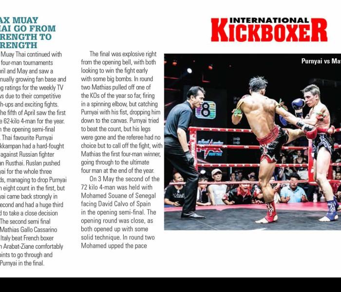 Mathias Gallo Cassarino su International Kickboxer Magazine – Ed. Luglio/Agosto 2015