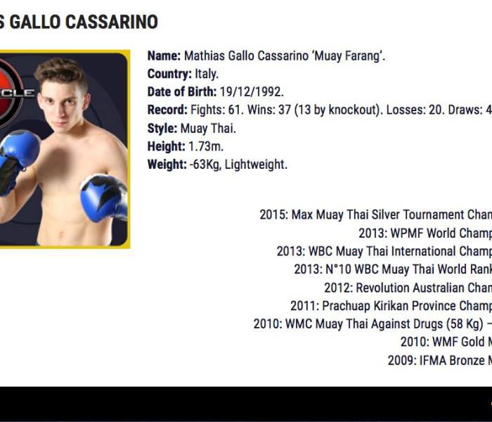 """Mathias Gallo Cassarino nel prestigioso torneo """"The Circle"""""""