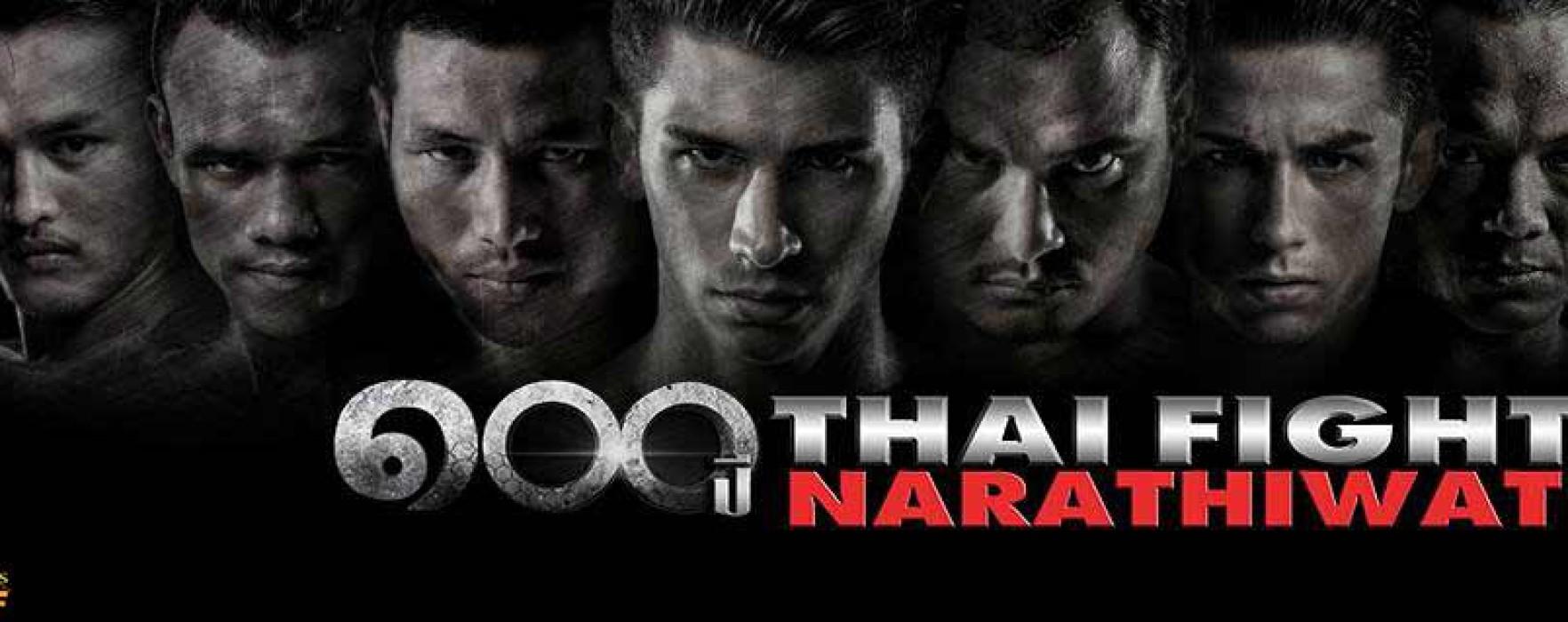 Card: Thai Fight Narathiwat featuring Saenchai, Saiyok, Sudsakorn, Jimmy Vienot, Karlito etc – 22nd August 2015