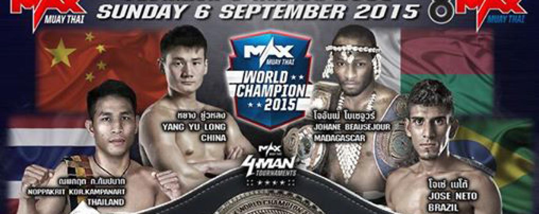 Flash News: Franco 7MT, Josè Neto, Jayy Tonkin, Teetong Por Rungsawat at Max Muay Thai
