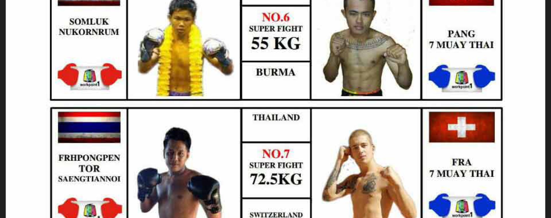 Card: Super Muay Thai – 31st January 2016