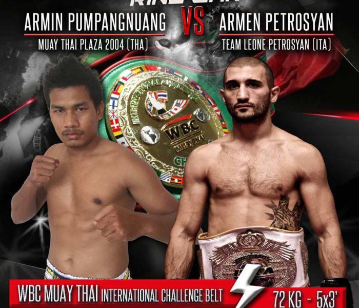 Card: Armen Petrosyan vs Armin Pumpanmuang e altri ancora al Ring Wars 2016