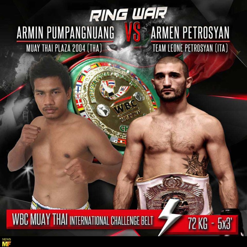 Card: Armen Petrosyan vs Armin Pumpanmuang and many more at Ring Wars 2016