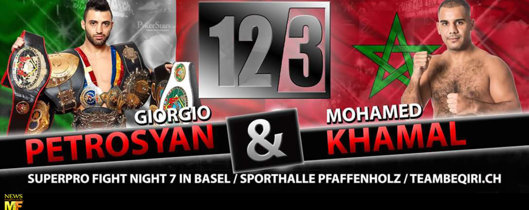 Flash News: Giorgio Petrosyan vs Mohamed Khamal – SuperPro Fight Night 7 – Basel – 12/03/2016