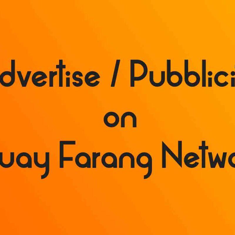 Advertise on Muay Farang Network