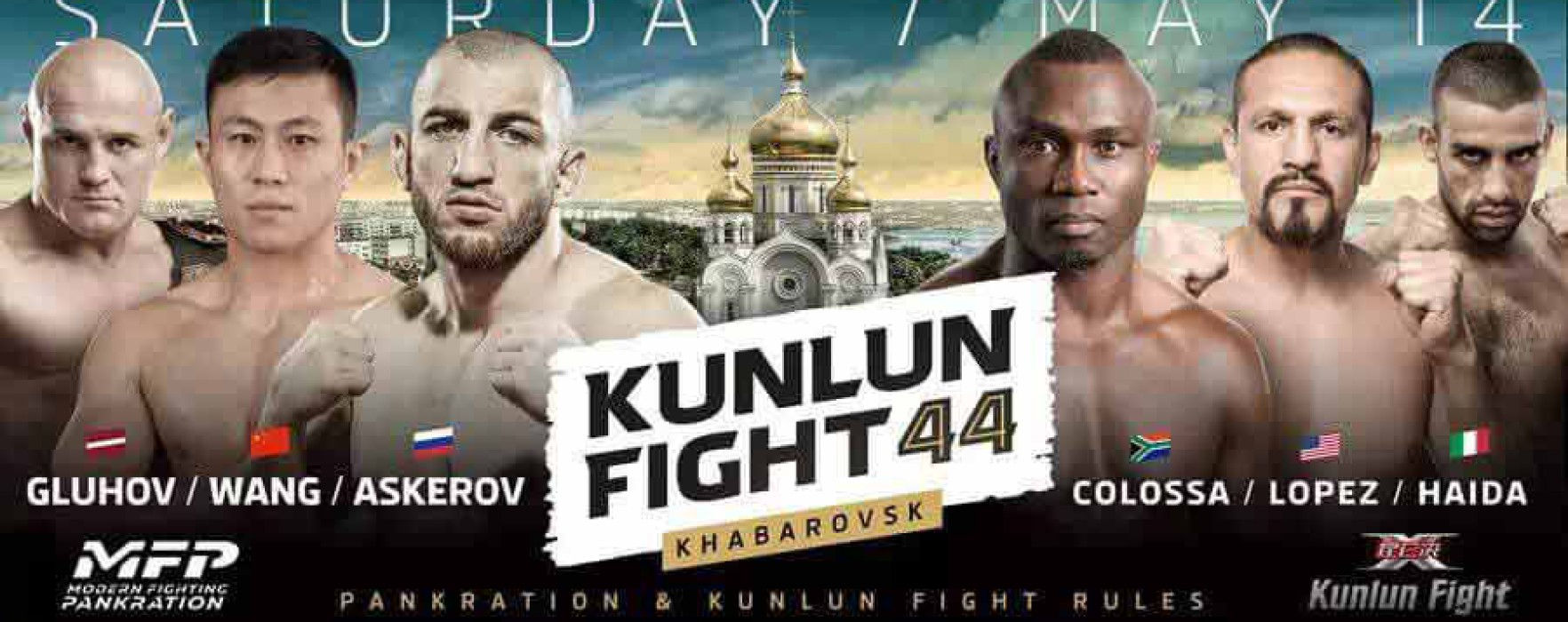 Card: Askerov, Colossa, Haida & more at Kunlun Fight 44 – Khabarovsk, Russia – 14th May 2016