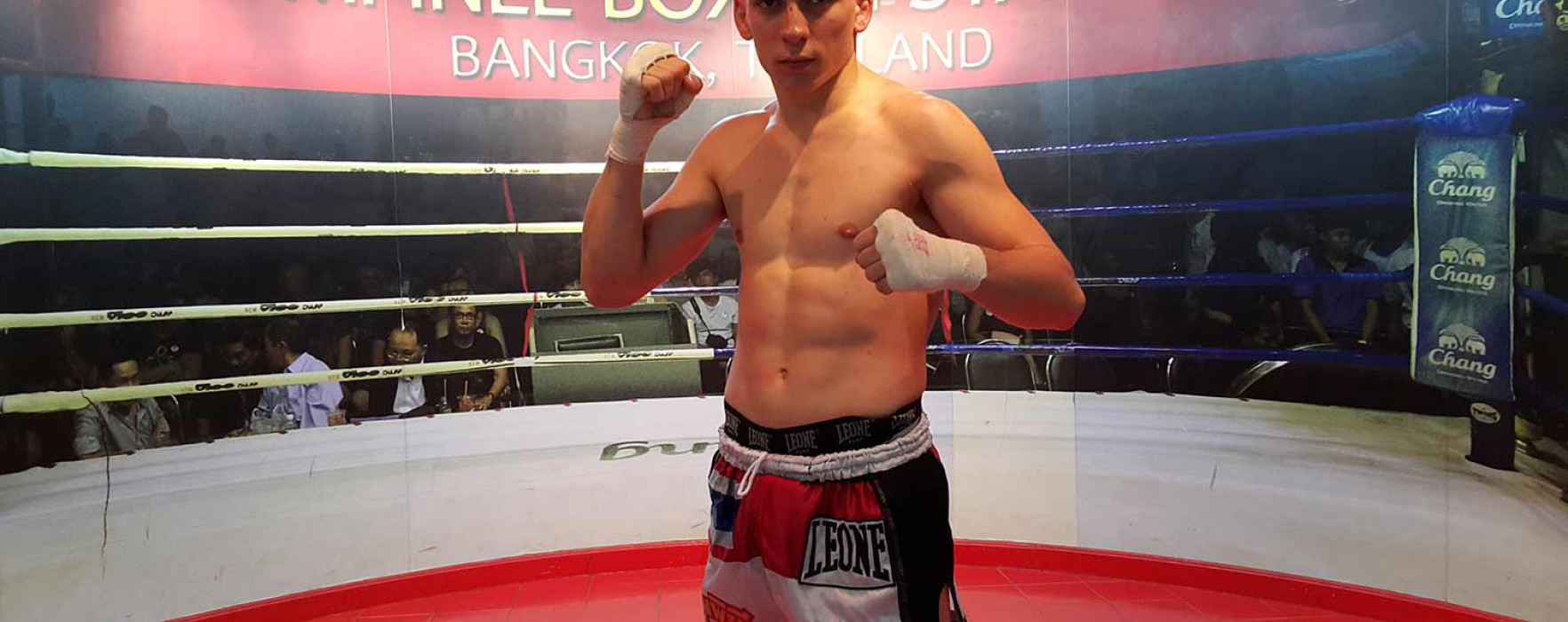 Video: Mathias 7 Muay Thai wins by TKO at Lumpinee Stadium – 12 April 2016