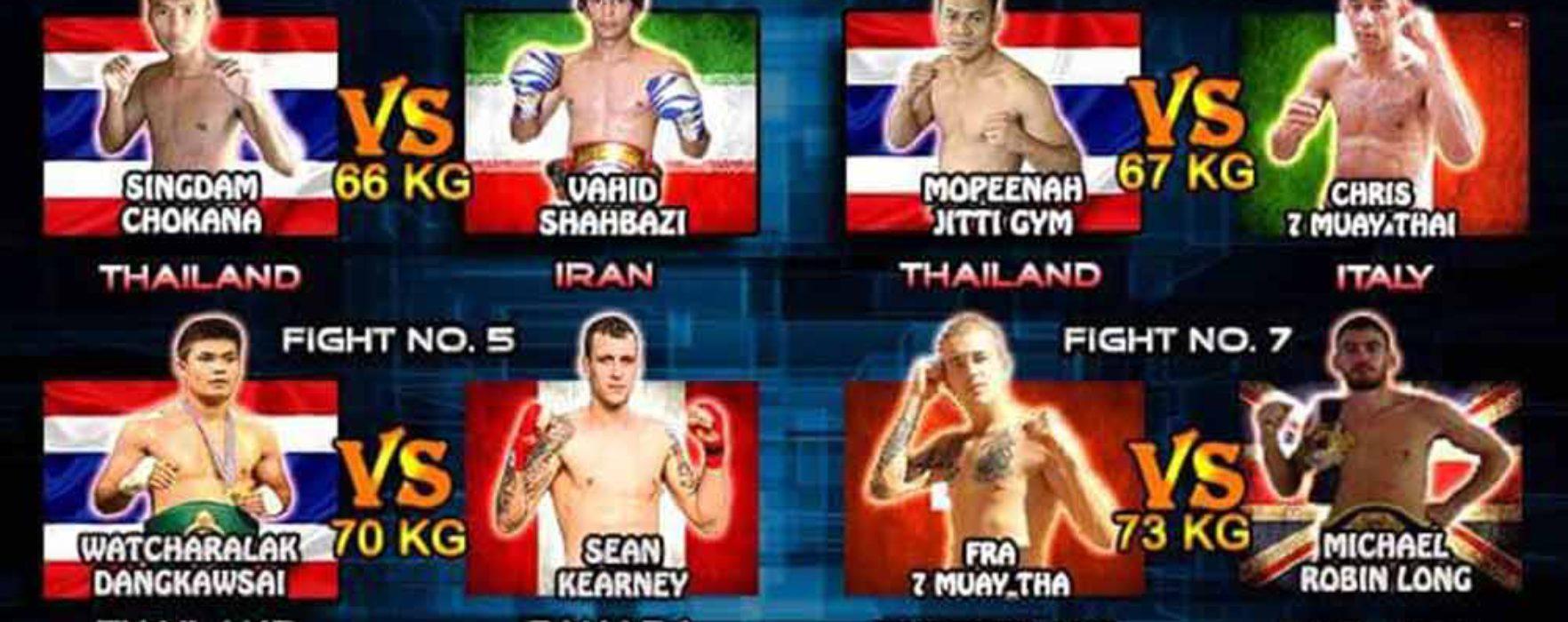 (English) Card / Streaming: Christian Zahe, Sean Kearney, Vahid Shahbazi,  Jahongir Muhammadi etc at Super Muay Thai | 15 My 2016