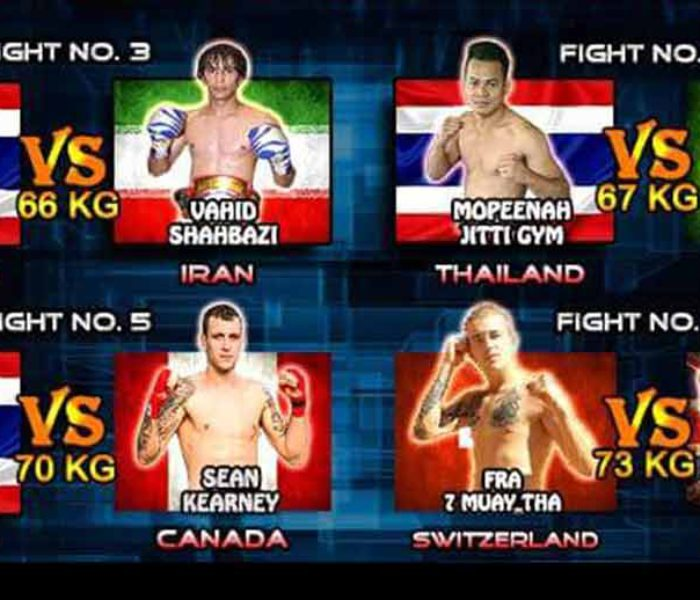 Card / Streaming: Christian Zahe, Sean Kearney, Vahid Shahbazi,  Jahongir Muhammadi etc at Super Muay Thai | 15 My 2016
