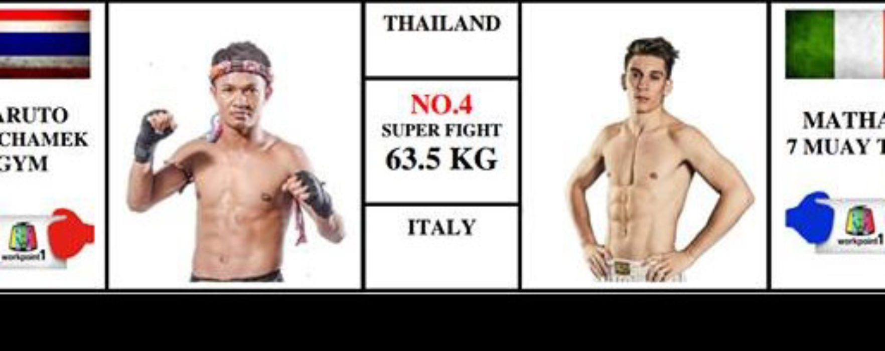 (English) Card / Steaming: Mathias Gallo Cassarino vs Naruto Banchamek – Super Muay Thai – 29/05/16