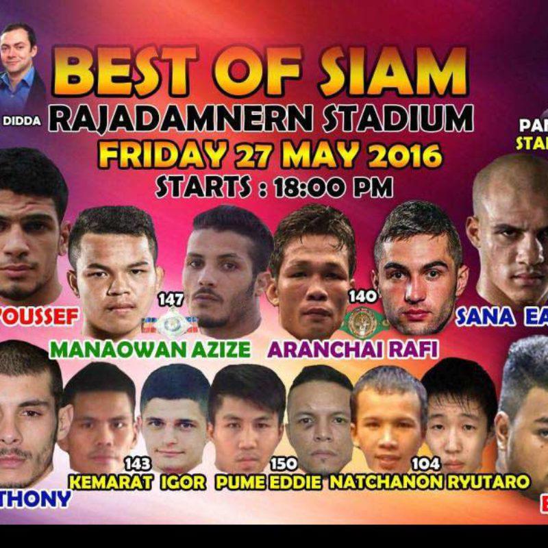 Results: Best of Siam 8 ft. Boughanem, Bohic, Hlali etc – Rajadamnern – 27/05/16