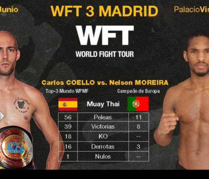 Card: Carlos Coello Canales, Maria Lobo, ecc al World Fight Tour WFT 3 – Madrid – 18/03/16