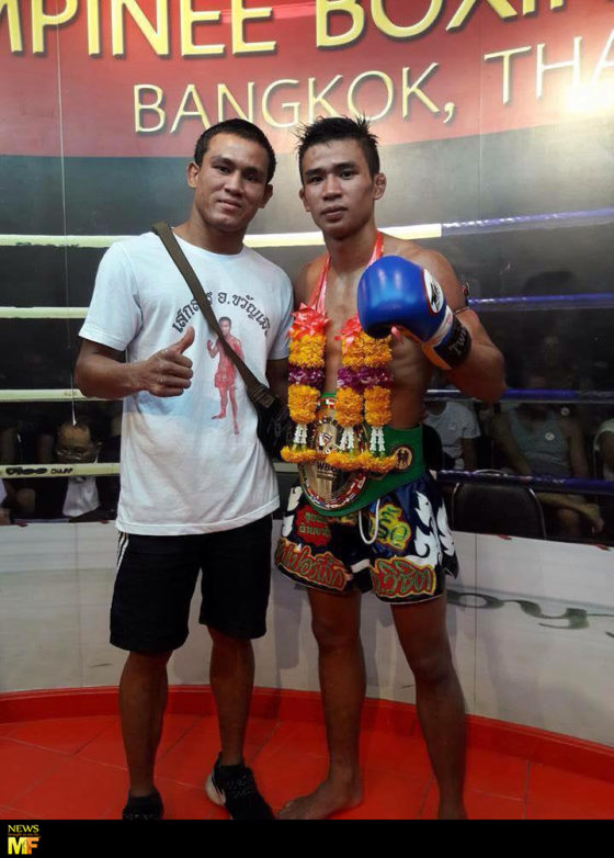 Seksan and Superlek after their fight.