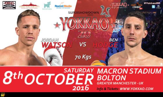 Jordan Watson vs Ben Hodge YOKKAO 20 6 oct 2016