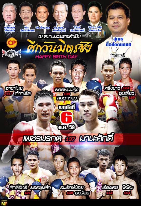 Petchmorakot vs Manasak Lumpinee 6 Oct 2016