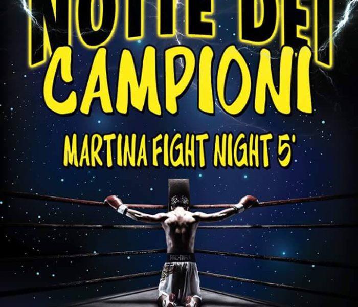 """(Italiano) """"MARTINA FIGHT NIGHT 5″, 27 Novembre 2016: 1 titolo mondiale e 2 titoli europei di K1 Rules in palio!"""