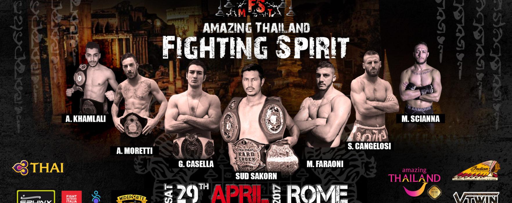 """Comunicato stampa da parte di """"Amazing  Thailand Fighting Spirit"""" (29 aprile, Roma)"""