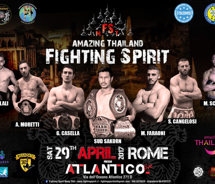 """(Italiano) Comunicato stampa da parte di """"Amazing  Thailand Fighting Spirit"""" (29 aprile, Roma)"""
