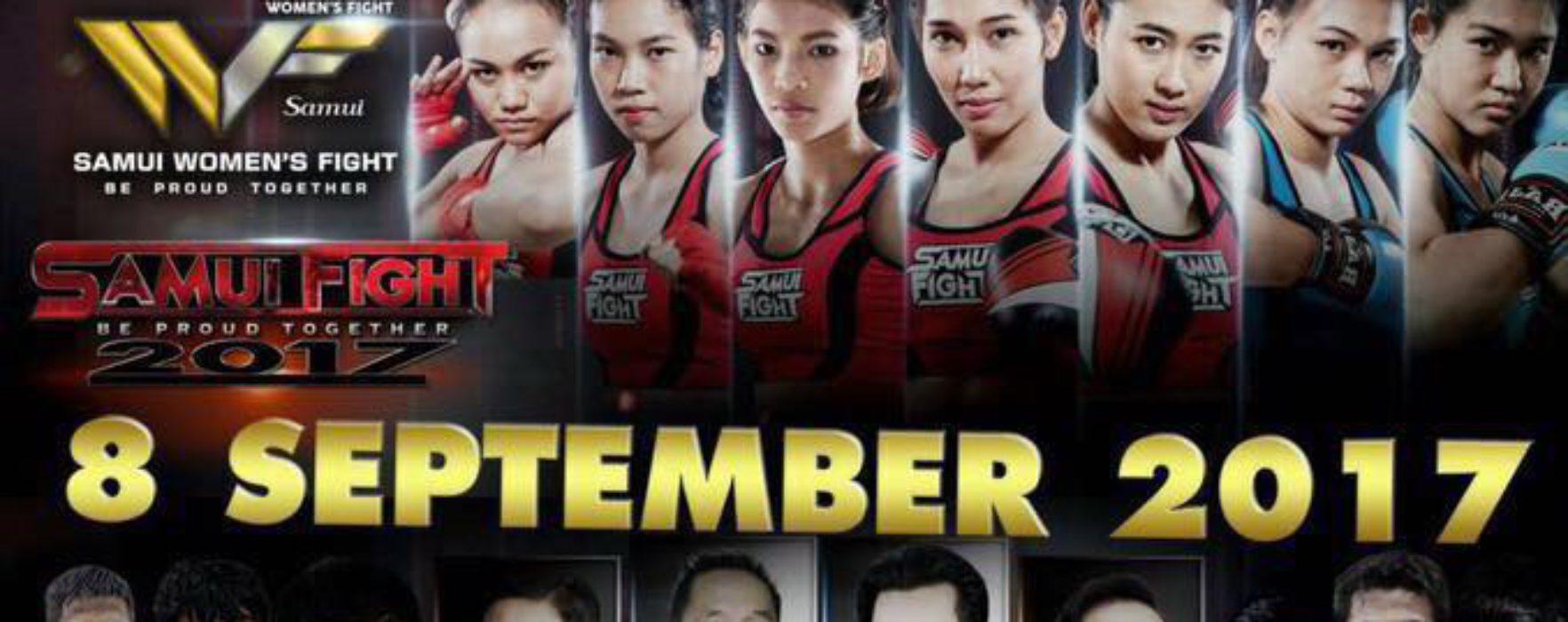 Samui fight 2017 – Saengmanee, Panpayak, Seksan, Chomanee e molti altri – 7-10 sett 2017