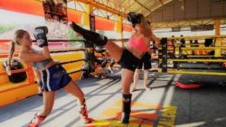 muay thai woman gym