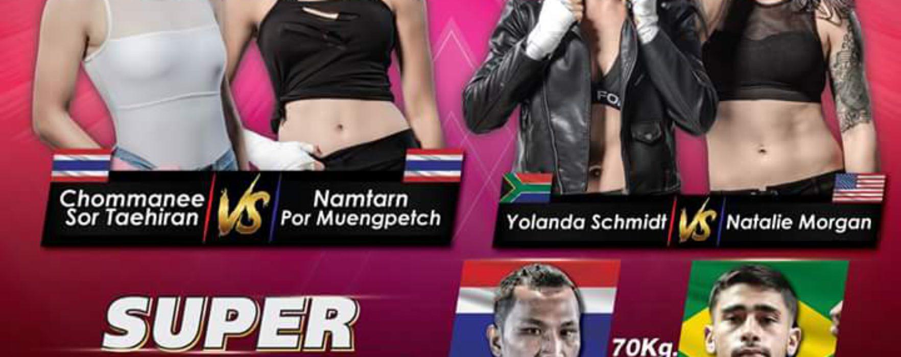 (English) Namtarn vs Chommanee at Muay Thai Angels