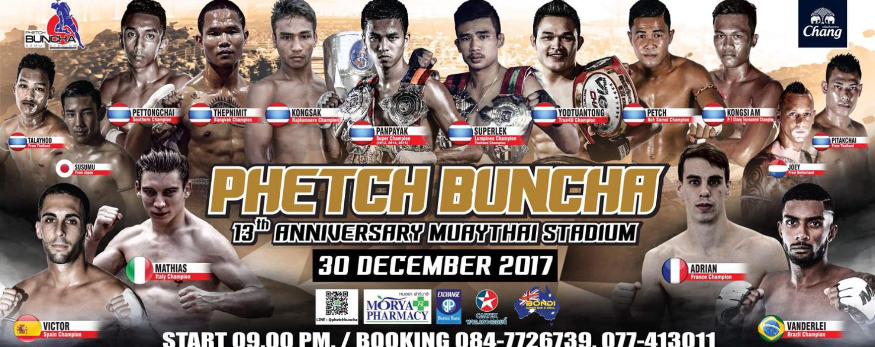 Huge Bangkok Promotion in Samui featuring Panpayak, Superlek, Kongsak and Mathias