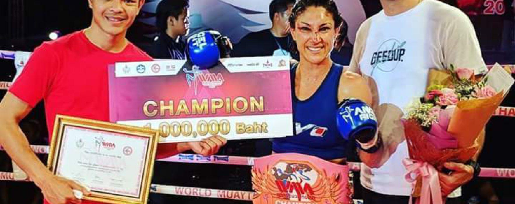 Yolanda Schmidt domina a Muay Thai Angels 2017